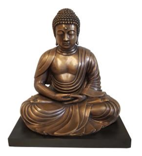 """Japanese Kyoto Buddha Statue 23"""" H Bronze"""