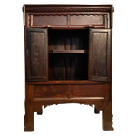 Chinese antique cabinet in cinnabar red