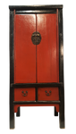 Chinese Antique Splayed Cabinet