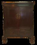 Buddha Legged Chinese Antique Cabinet
