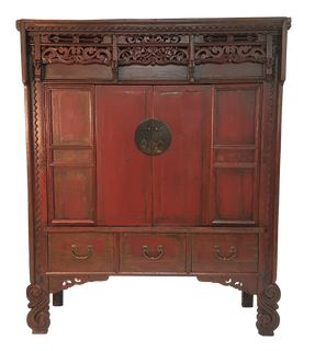 oriental bedroom furniture. Carved Lattice and Floral Red Chinese Antique Wedding Chest Asian Bedroom Furniture  Oriental Furnishings