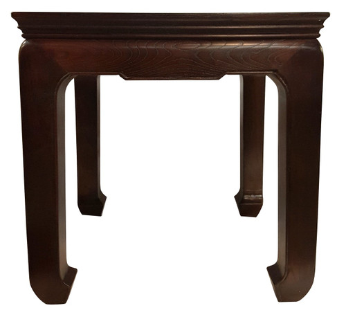 "Chinese End Table Solid Elm  Ming Design 24"" H"