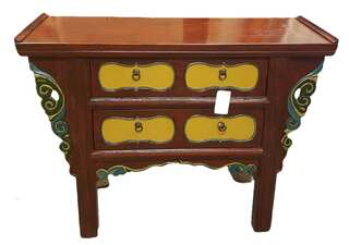 "Tibetan Wing Top Table 5 Drawers 47"" Wide"