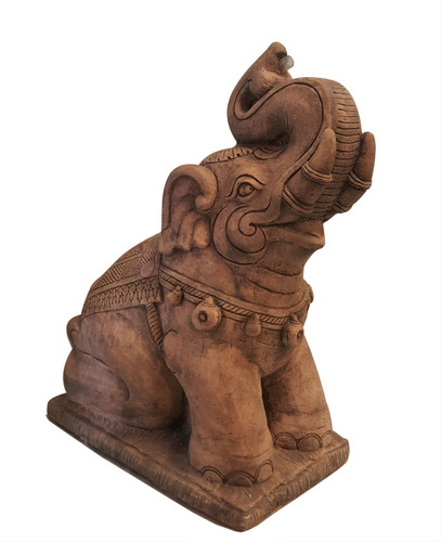 "Asian Water Fountain  Carved Stone Elephant 26""H"