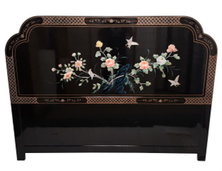 Oriental Bird and Flower Headboard