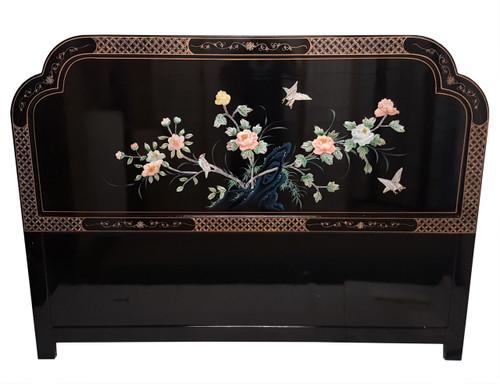 Oriental Bird and Flower Headboard