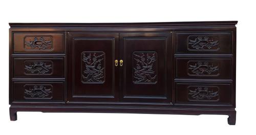Carved Oriental Rosewood Dresser