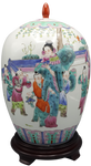 Famille Vert 1000 Children Playing  Chinese Porcelain Melon Jar