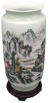 Chinese Porcelain Vase with Landscape Decoration