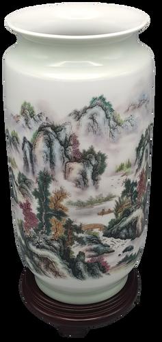Chinese Porcelain Vase with Landscape Decoration