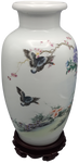 Round Top Chinese Porcelain Painted Vase