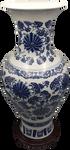 Blue and white porcelain daisy painted vase