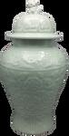 Floral pattern carved porcelain vase