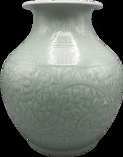"""15"""" celadon glaze Chinese porcelain vase"""