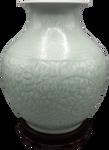 Chinese wide mouth porcelain vase  celadon glaze