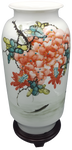 Chinese Porcelain Modern Vase Hand painted Wysteria