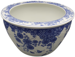 Asian daisy chain pattern Chinese porcelain planter