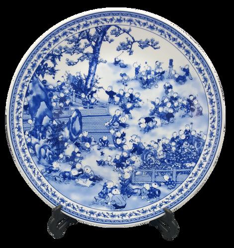 Blue & White Porcelain Plate
