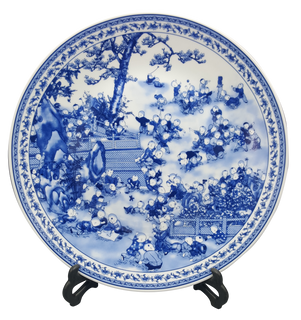 Blue & White Porcelain Plate