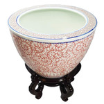 Chinese Porcelain fishbowl planter