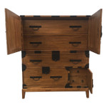Japanese Style Elmwood Tansu Chest with drawers and hidden drawers