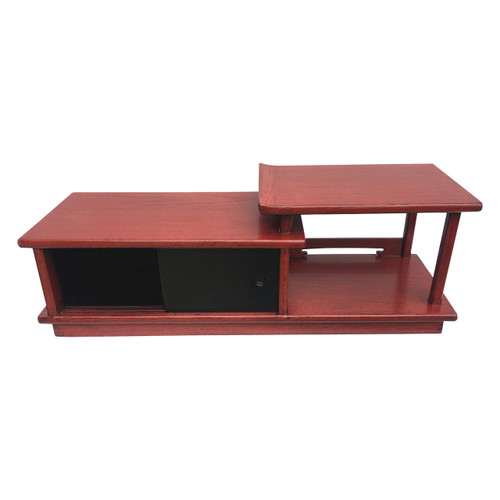 Traditional wooden Japanese tea table