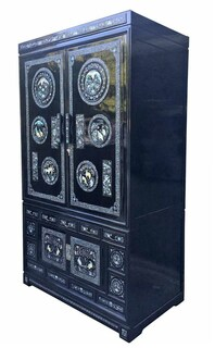 Korean Mother of Pearl Armoire