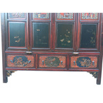 Chinese  carved antique armoire