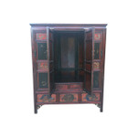 Antique Chinese Fir wood armoire