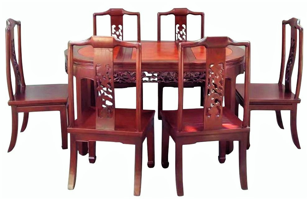 Hand Carved Chinese Dining Room Set