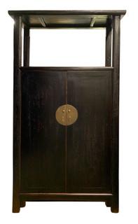 Antique Chinese Wood Shrine Cabinet