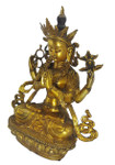 Solid bronze Buddha statue