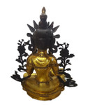 Chinese Buddha statue with crown