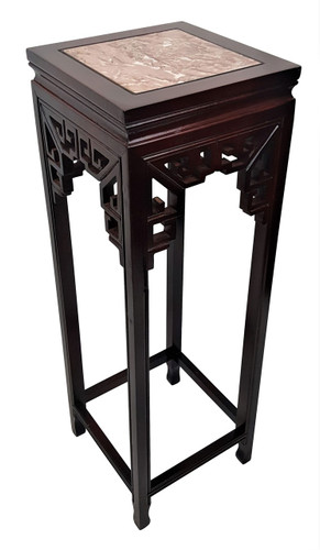 Oriental Plant Stand Marble Top
