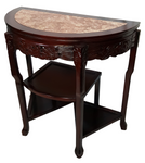 Polished reddish marble top table