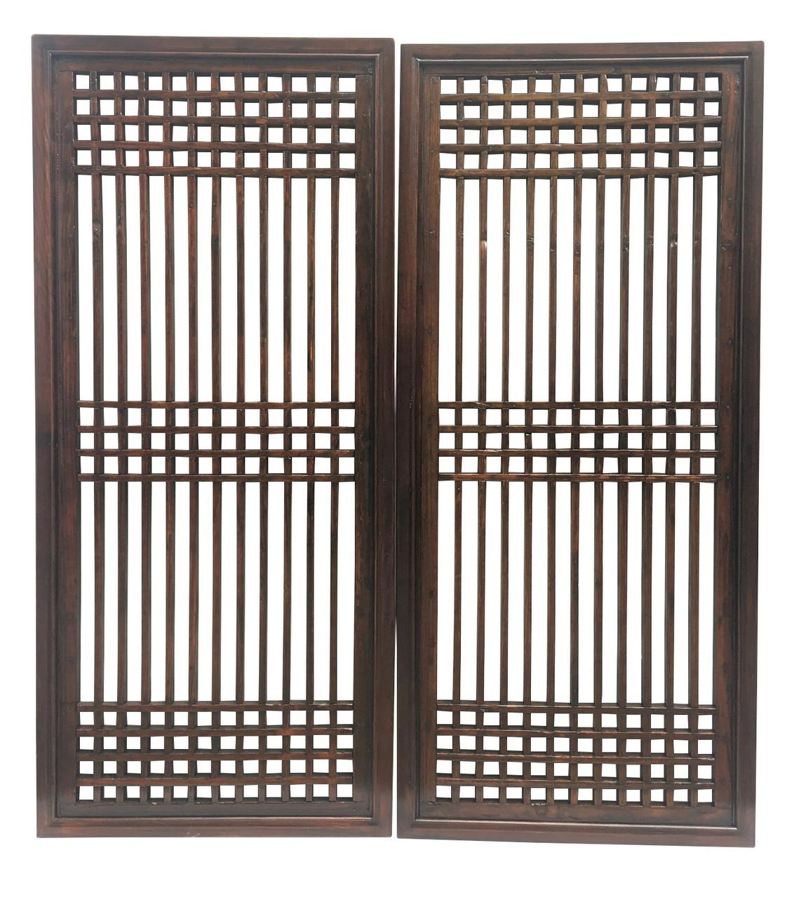 Chinese Carved Window Lattice Frame Window Panel