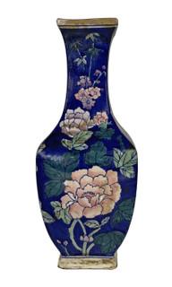 Blue Vase Chinese Chrysanthemum 14 Inch