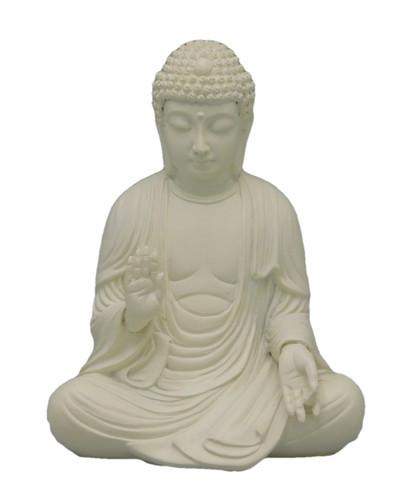 White Meditating Buddha Statue