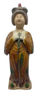 "Chinese Ceramic Lady Flute 15.4""H"