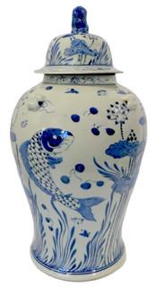 Coy Fish Jar- T125- three swallow