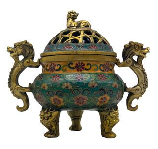 Cloisonne Incense Bowl