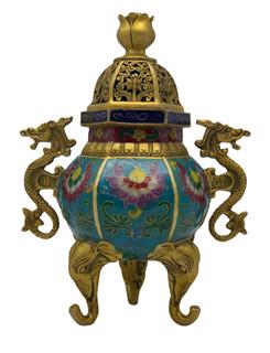 Cloisonne Incense Jar