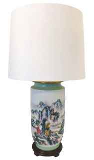 "28""H Asian Porcelain Lamp"