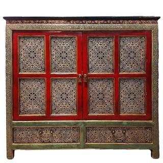 "47"" Tibetan Cabinet Hand Painted"