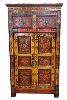 Tibetan Floral Hall Chest