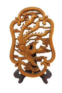Chinese Wood Camphor Bird Carved
