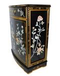 Black lacquer Oriental shoe cabinet