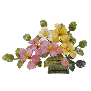 Oriental Stone Jade Tree Flower and Fruit
