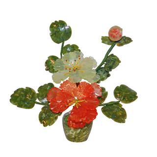 Oriental Hardstone Blossom Flower Pot