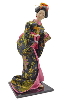 Japanese Dancing Geisha Doll with Fan